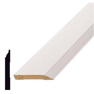 WM 633 7/16 in. x 3-1/4 in. x 96 in. Wood Primed Finger-Jointed Base Moulding