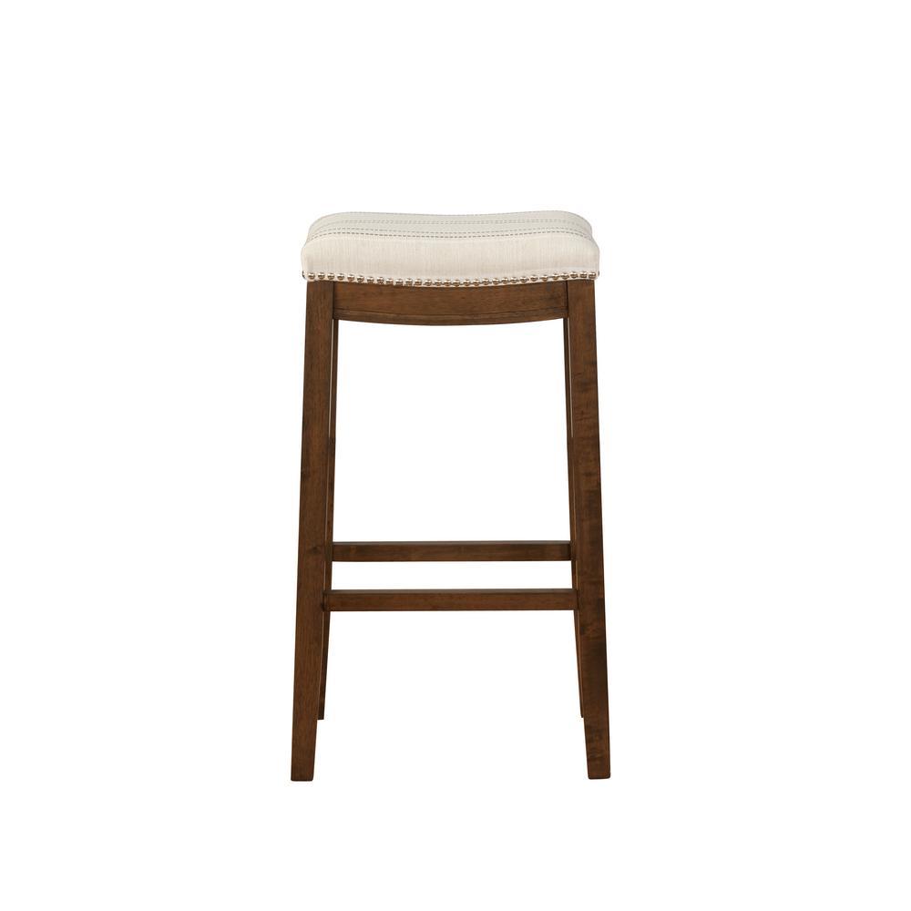 Linon Home Decor Claridge 30 in. Natural Brown Bar Stool THD02017