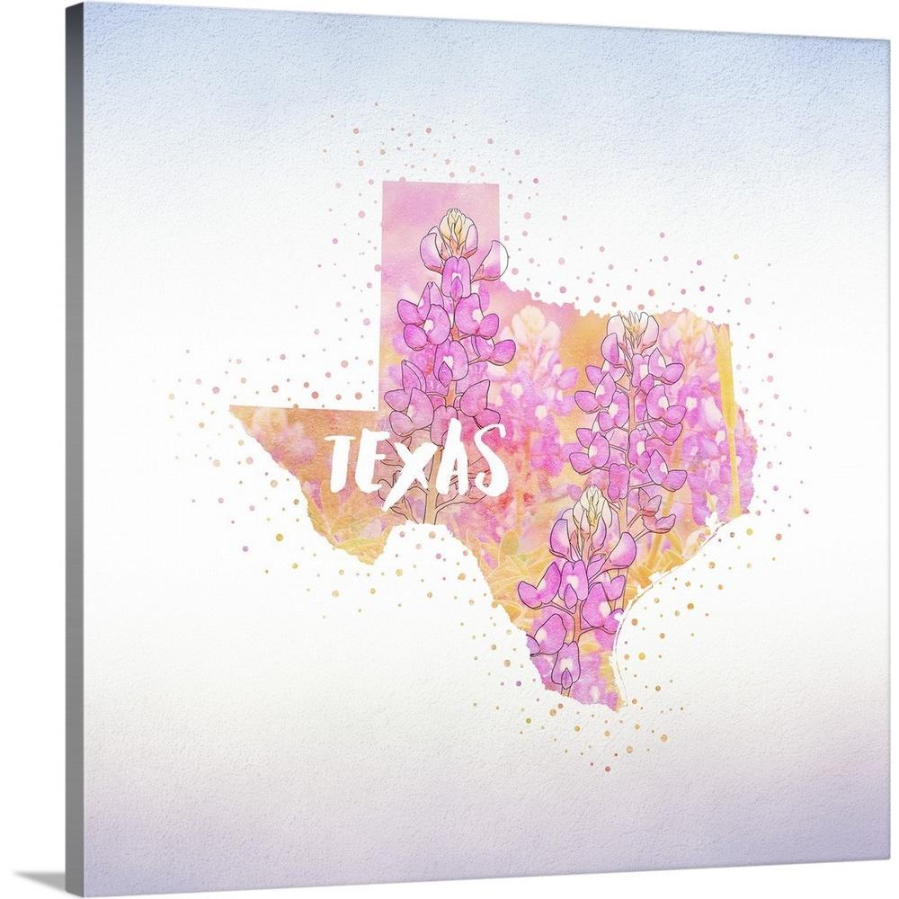 Greatbigcanvas 16 In X 16 In Texas State Flower Blue Bonnet