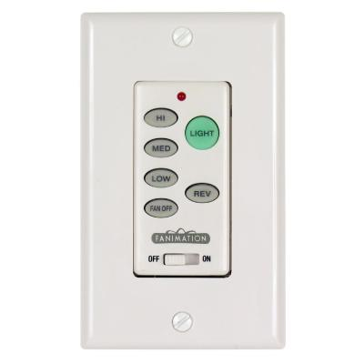 3-Speed Wall Control Reversing Switch, White