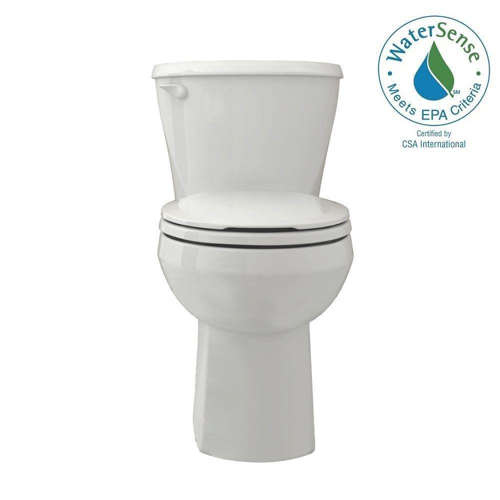 American Standard Reliant Complete 2 Piece 128 GPF Single Flush Round Toilet In White 3332128020