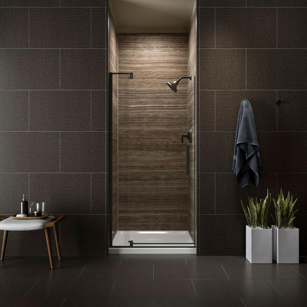 KOHLER Revel 36 in. W x 70 in. H Frameless Pivot Shower Door in ...