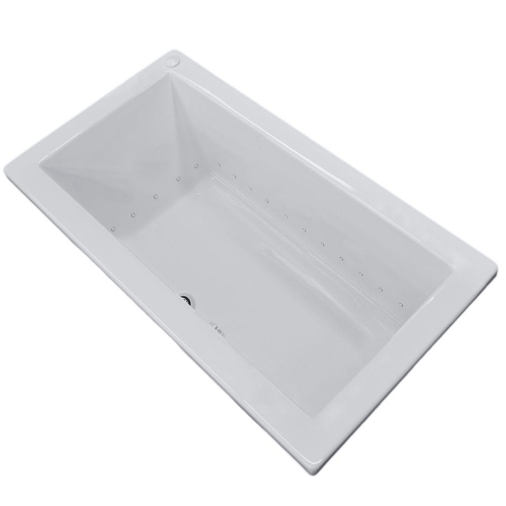 Universal Tubs Sapphire 72 in. Rectangular Drop-in Air Bath Tub in ...