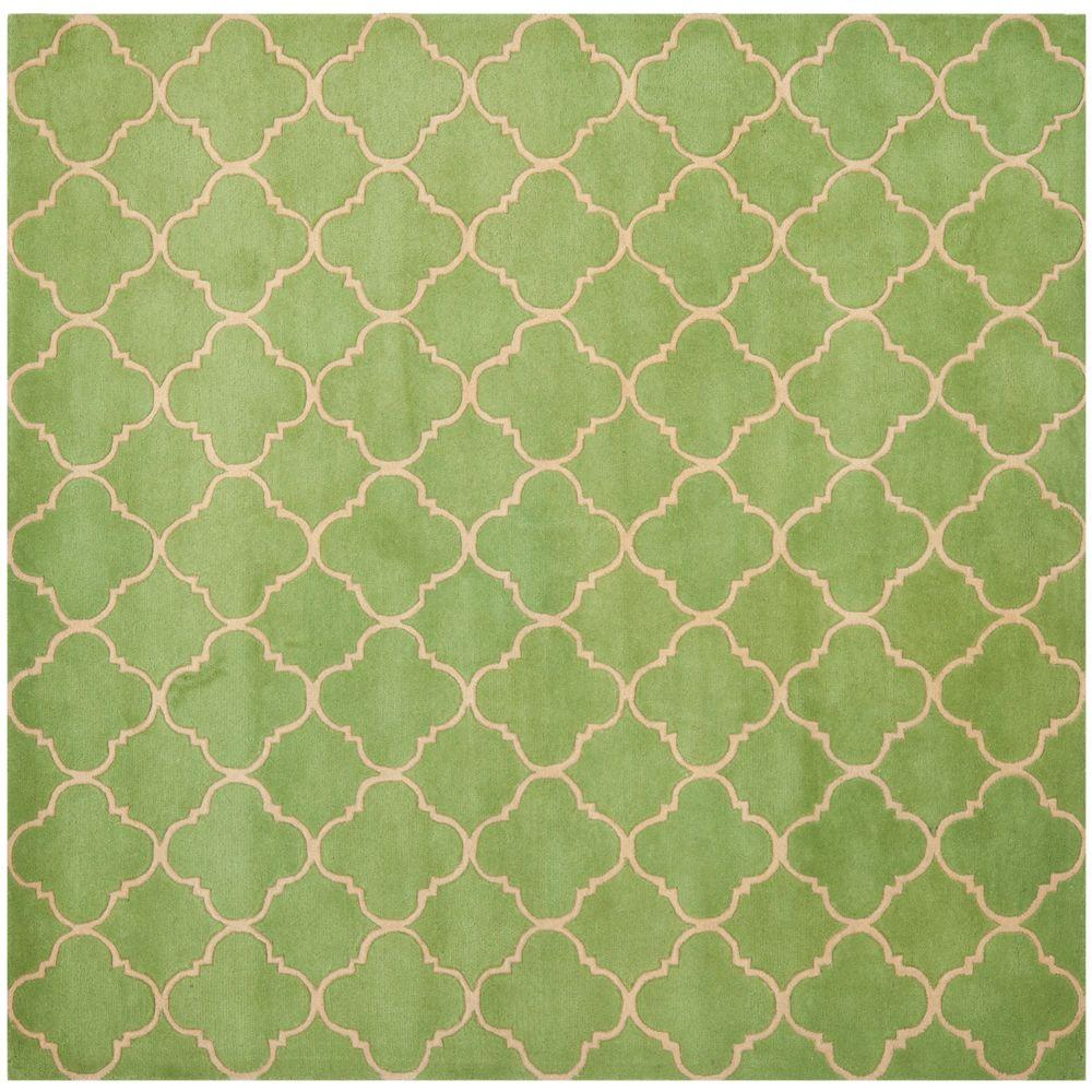 Safavieh Chatham Green 7 ft. x 7 ft. Square Area Rug
