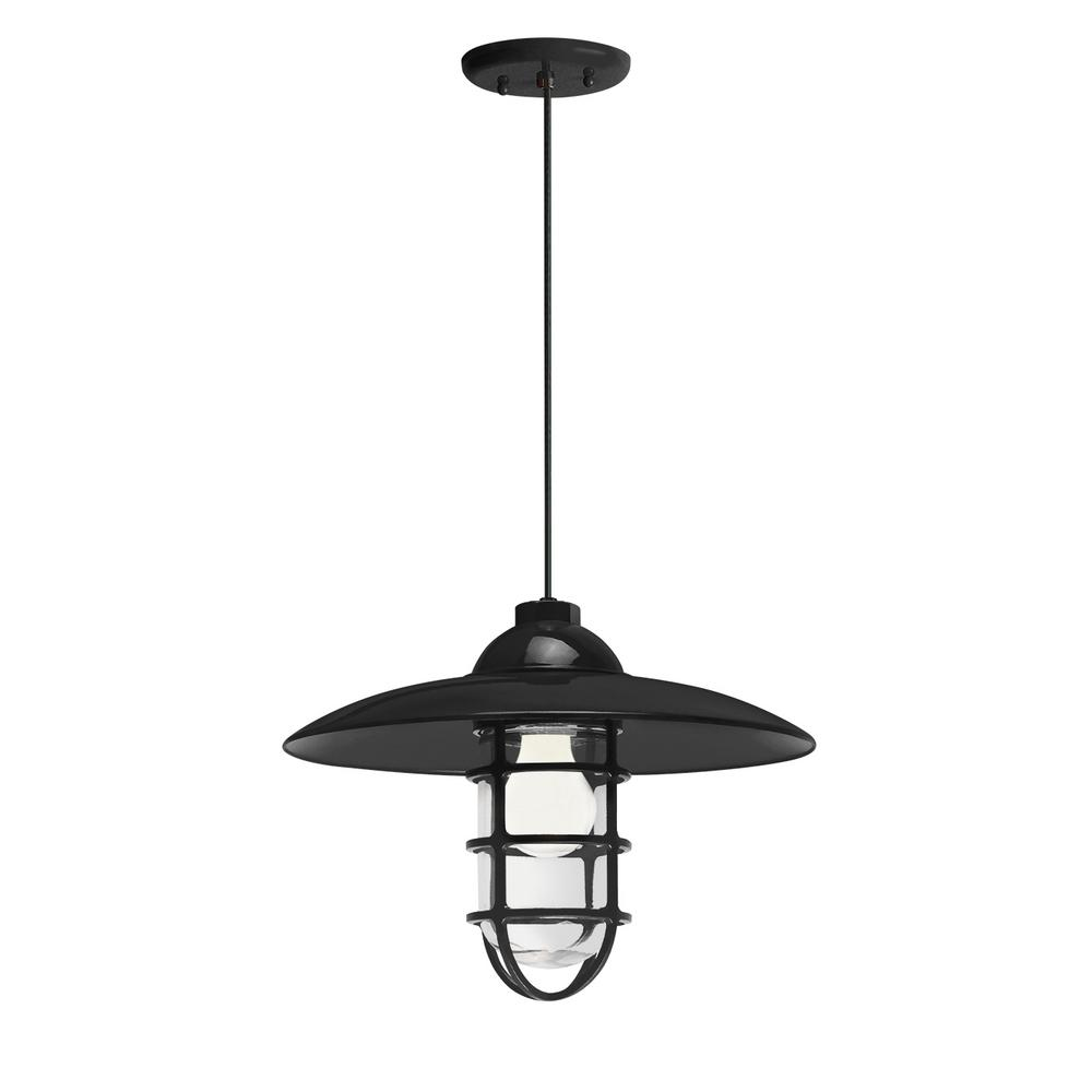 Troy Rlm Retro 13 In Shade 1 Light Black Finish Pendant