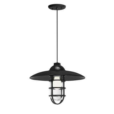 Retro Industrial 13 in. Shade 1-Light Black Finish Pendant