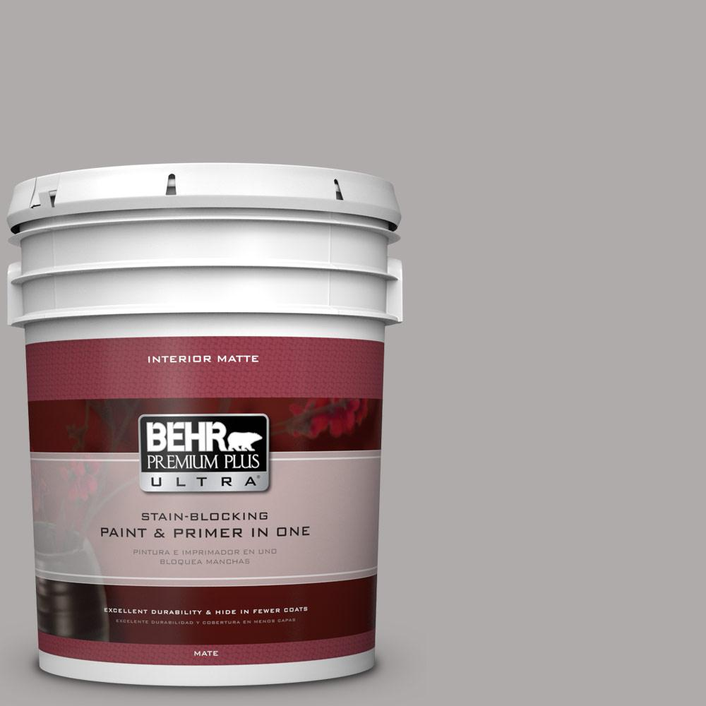 5 gal. #PPU18-14 Cathedral Gray Matte Interior Paint and Primer in