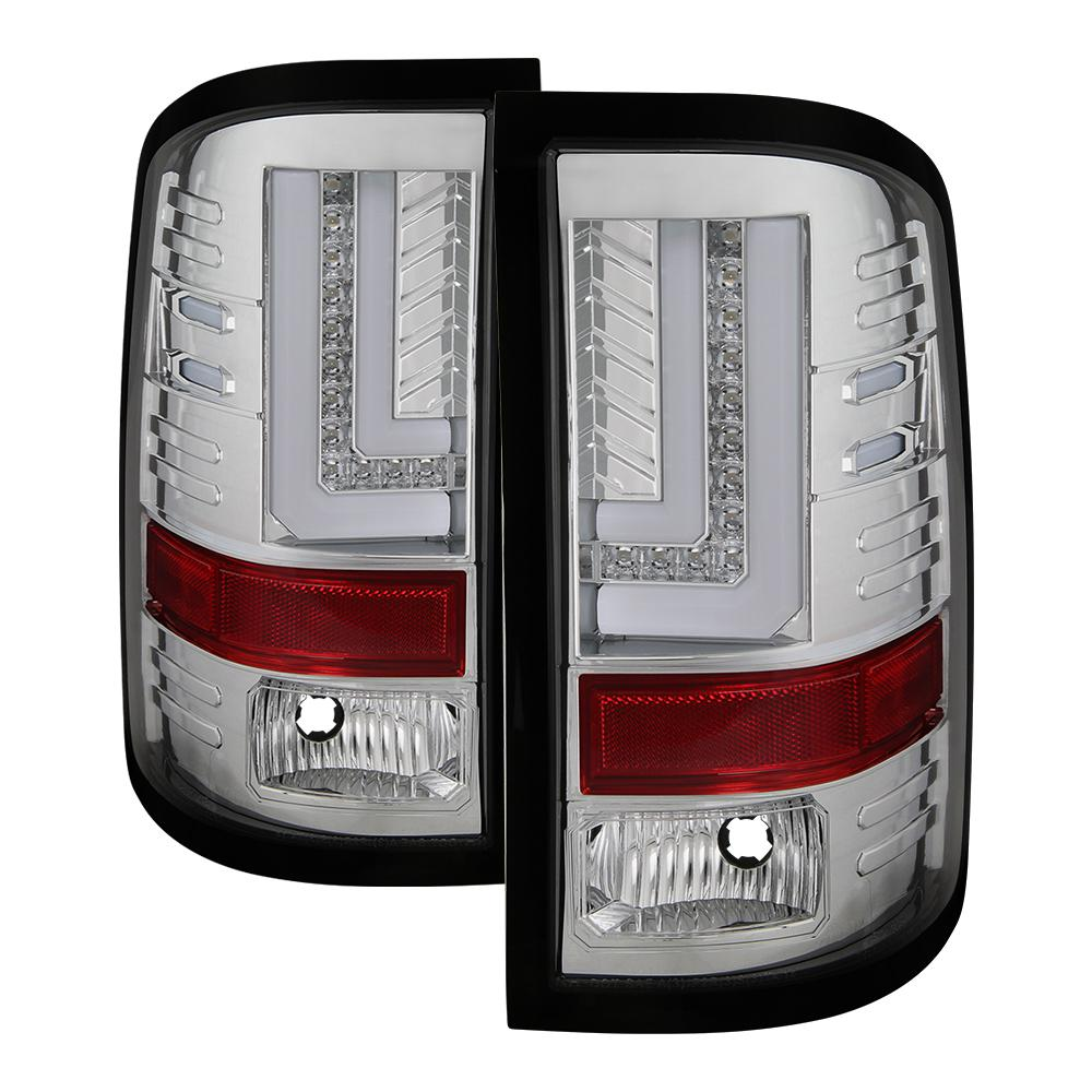 Spyder Auto GMC Sierra 2016-2017 (Will only fit facotry LED models) Light  Bar LED Tail Lights - Chrome