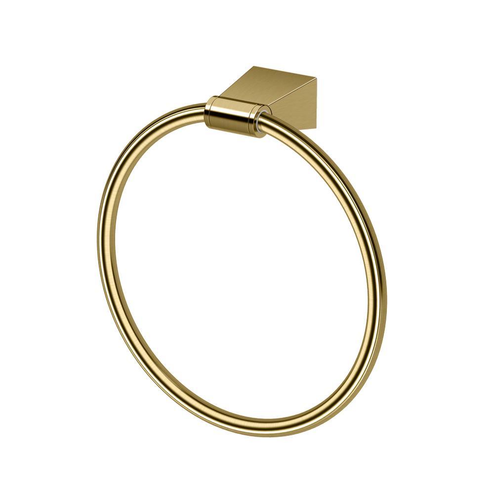 Gatco Bleu Towel Ring in Matte Brass by Gatco