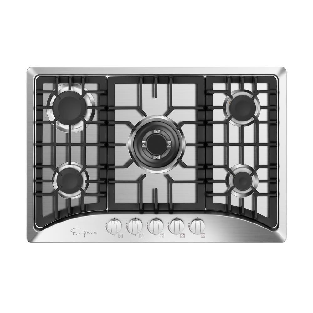 Appliances Empava EMPV-34GC5B90A Gas Cooktop 34 Inch