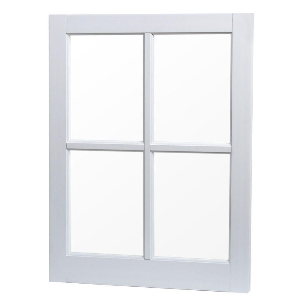Tafco Windows 24 In X 29 4 Lite Fixed Barn Sash Picture Vinyl