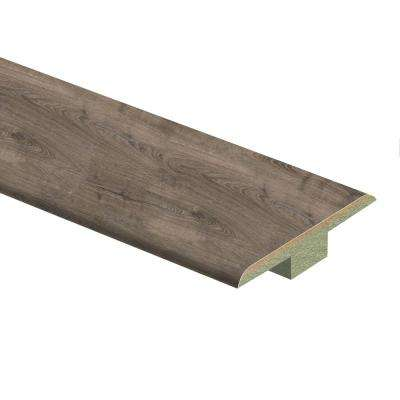 Vintage Pewter Oak 7/16 in. Thick x 1-3/4 in. Wide x 72 in. Length Laminate T-Molding