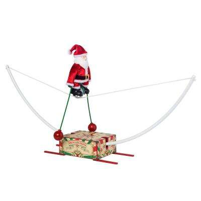 15 in. Unicycling Santa