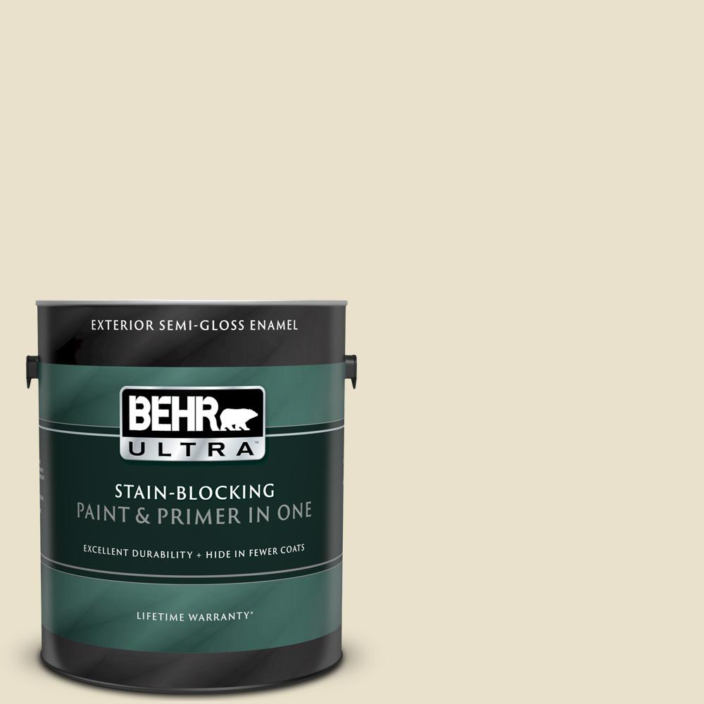 Behr Ultra 1 Gal Ecc 17 2 Dry Creek Semi Gloss Enamel Exterior Paint And Primer In One 585001 The Home Depot