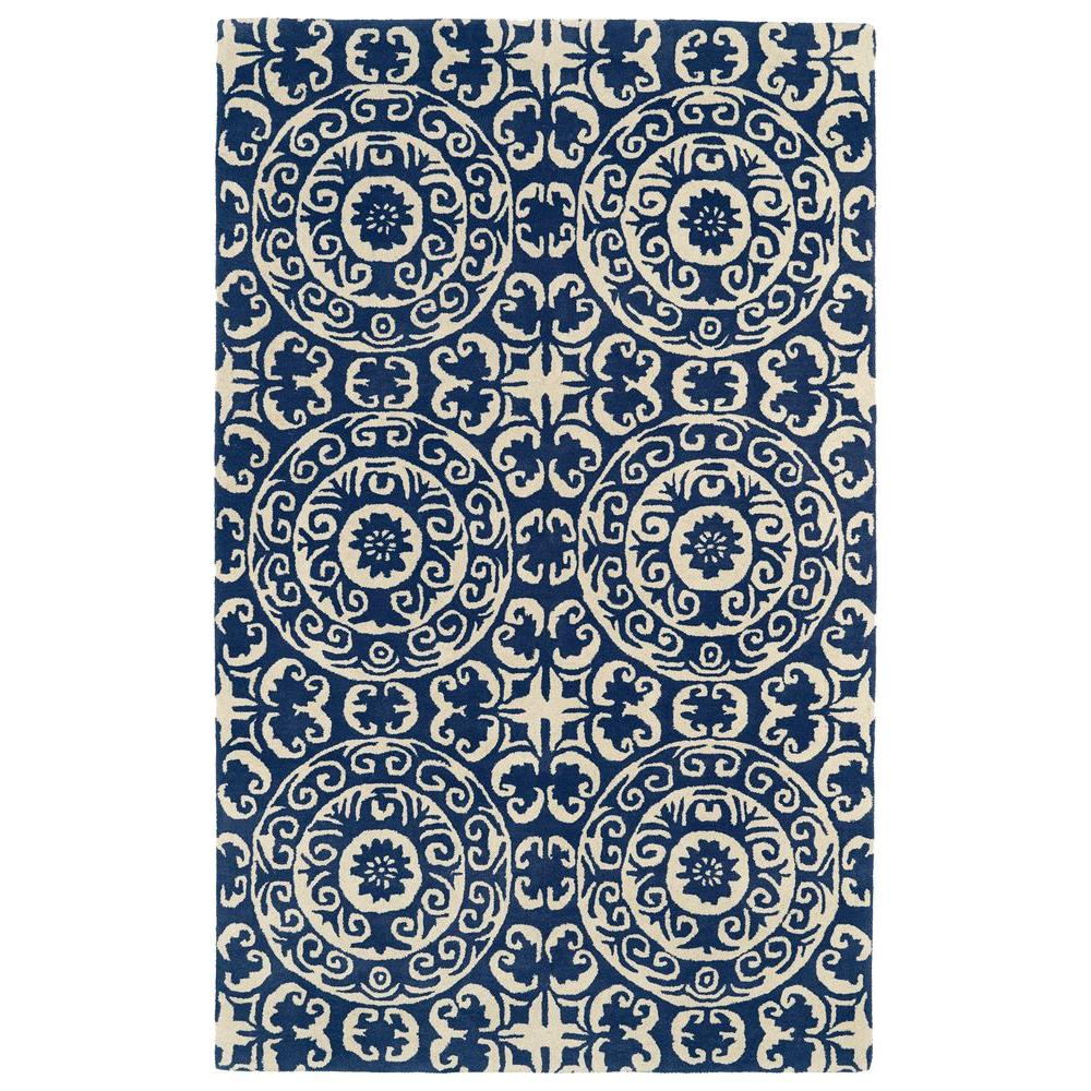 Evolution Navy 8 ft. x 11 ft. Area Rug