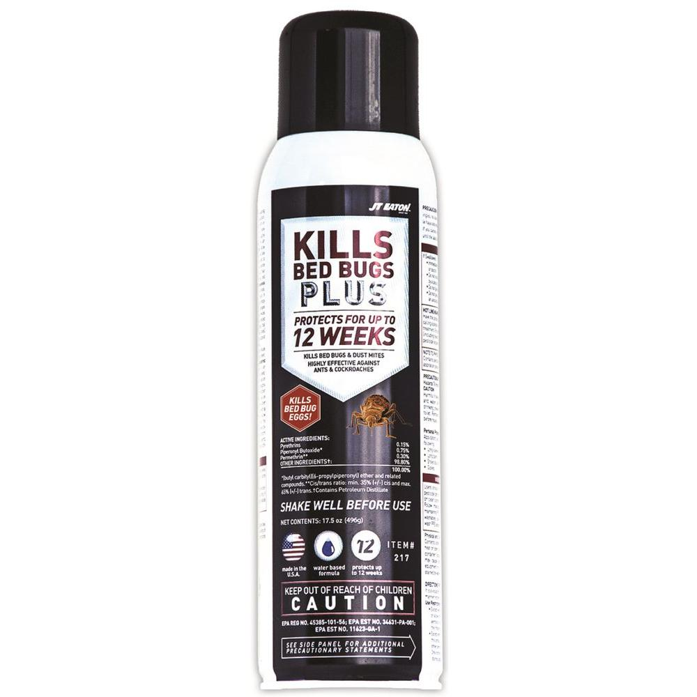 JT Eaton Kills Bed Bugs Plus 17.5 oz. Aerosol Water Based Insect Spray