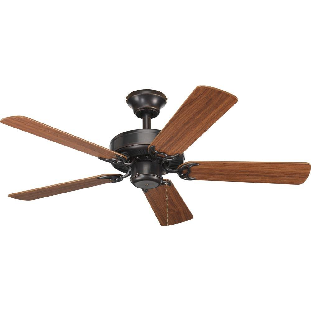 Progress Lighting AirPro Builder 42 in. Indoor Antique Bronze Rustic Ceiling Fan