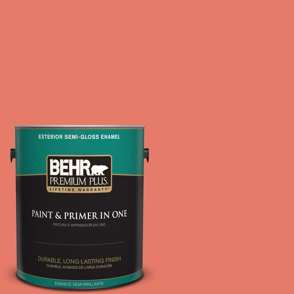 BEHR Premium Plus 1-gal. #P180-5 Watermelon Slice Semi-Gloss Enamel Exterior Paint