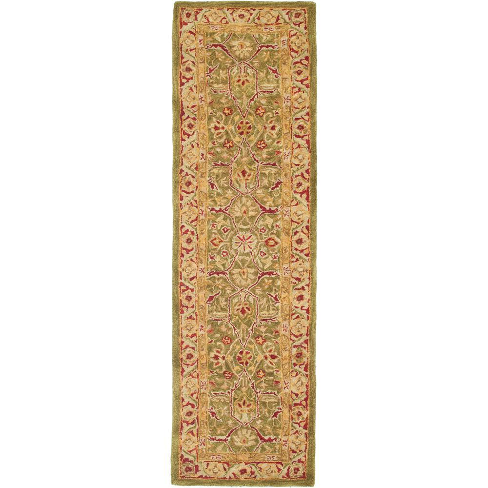 Anatolia Green/Red 2 ft. 3 in. x 8 ft. Runner