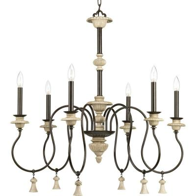 Bergamo Collection 6-Light Forged Bronze Chandelier