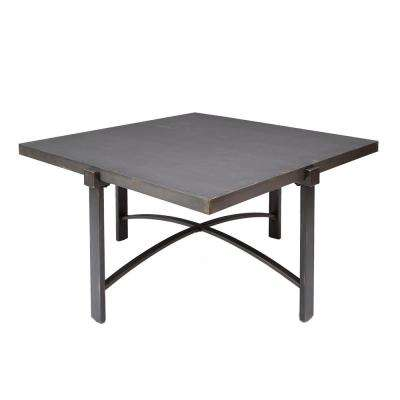 Lewis Bronze Square Metal Top Coffee Table