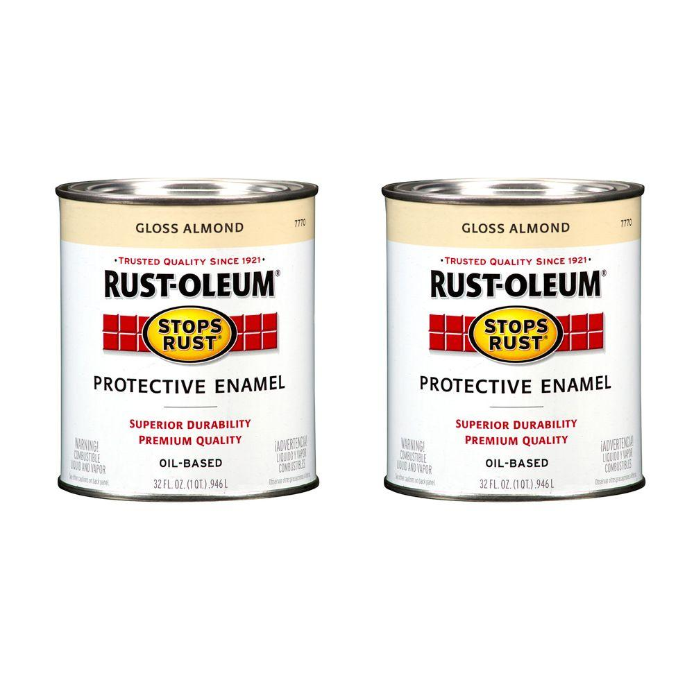Rust-Oleum Stops Rust 32 oz. Almond Protective Enamel (2-Pack)DISCONTINUED