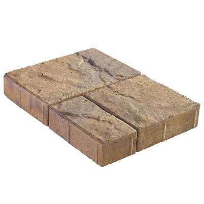 Panorama Demi 3-pc 7.75 in. x 7.75 in. x 2.25 in. Three Tone Brown Concrete Paver (240 Pcs. / 103 Sq. ft. / Pallet)