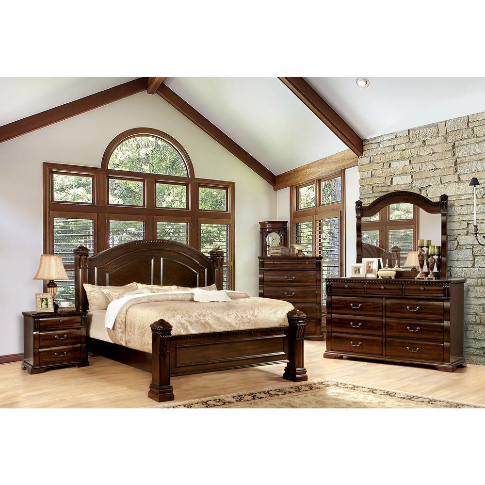 Burleigh Cal.King Bed in Dark Cherry