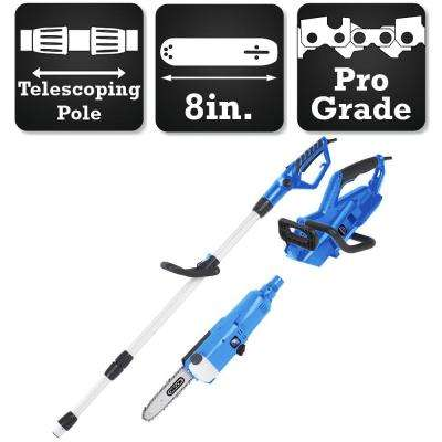 2-in-1 Portable 8 in. Electric Chainsaw with Telescoping Pole
