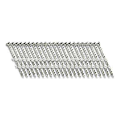 3 in. x 1/9 in. 20-Degree Fine Thread Electro-Galvanize Plastic Strip Versa Drive Nail Screw Fastener (1,000-Pack)