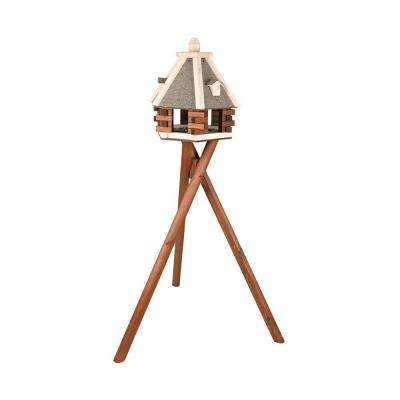 Nordic Wooden Bird Feeder with Stand