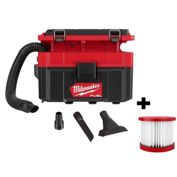 M18 FUEL PACKOUT 18-Volt Lithium-Ion Cordless 2.5 Gal. Wet/Dry Vacuum (Tool-Only) and Extra Filter