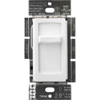 Skylark Contour Slide LED+ Dimmer Switch for Dimmable LED, Incandescent and Halogen Bulbs, Single-Pole, White