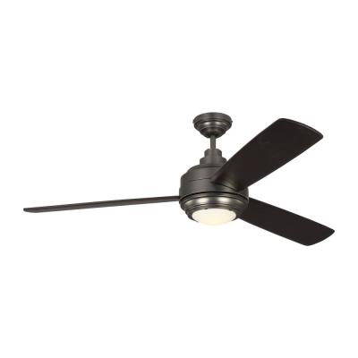 TOB by Thomas O'Brien Aerotour 56 in. Integrated LED Indoor Bronze Ceiling Fan with DC Motor and Remote Control