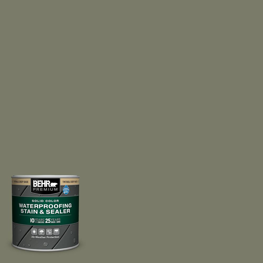 BEHR PREMIUM 8 oz. #SC-138 Sagebrush Green Solid Color Waterproofing Exterior Wood Stain and Sealer Sample