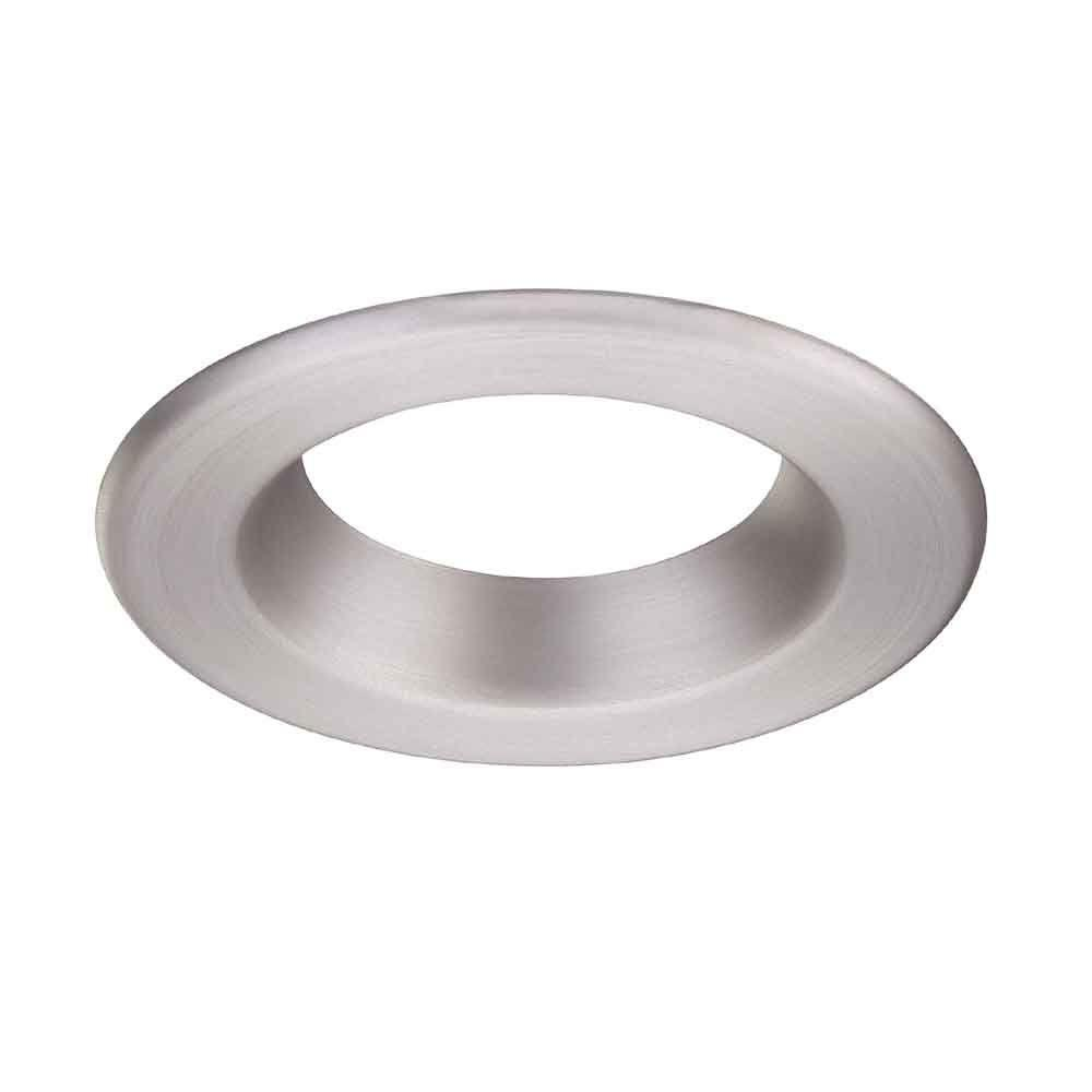 Commercial Electric 4 in. Brushed Nickel Recessed LED Trim Ring