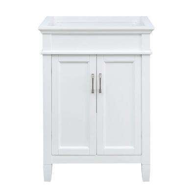 Ashburn 25 in. W x 22 in. D Vanity Cabinet in White with Granite Vanity Top in Sircolo with White Sink