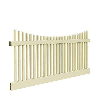 Yukon Scallop 4 ft. H x 8 ft. W Sand Vinyl Un-Assembled Fence Panel