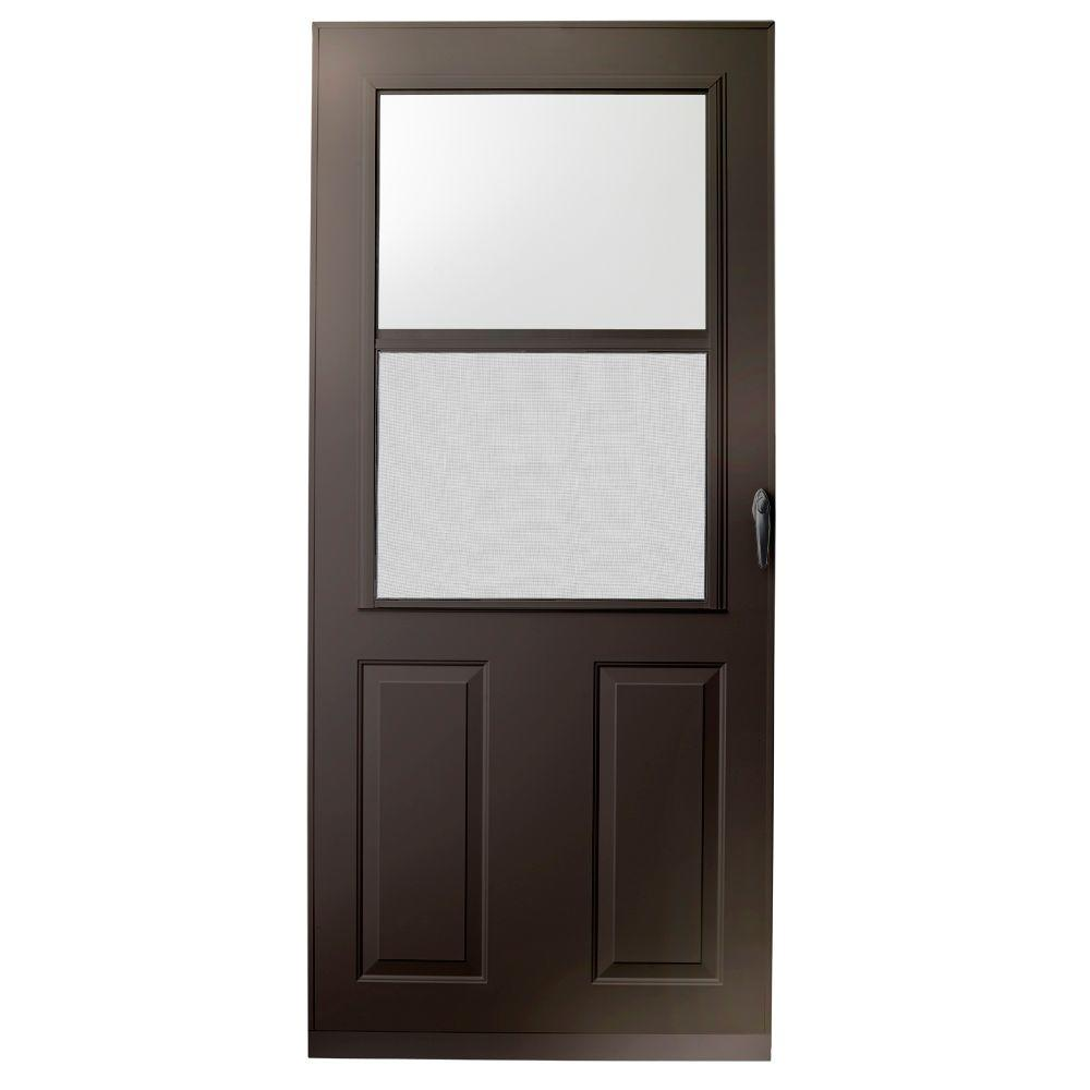 36 in. x 80 in. 200 Series Bronze Traditional Storm Door