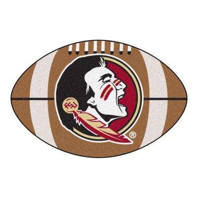 NCAA Florida State University Seminole Logo Brown 2 ft. x 3 ft. Specialty Area Rug