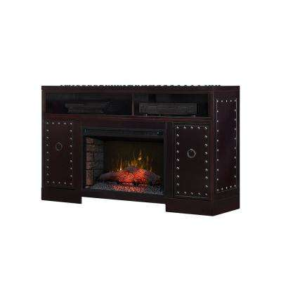 Fornax 53 in. Electric Fireplace TV Stand in Rich Espresso