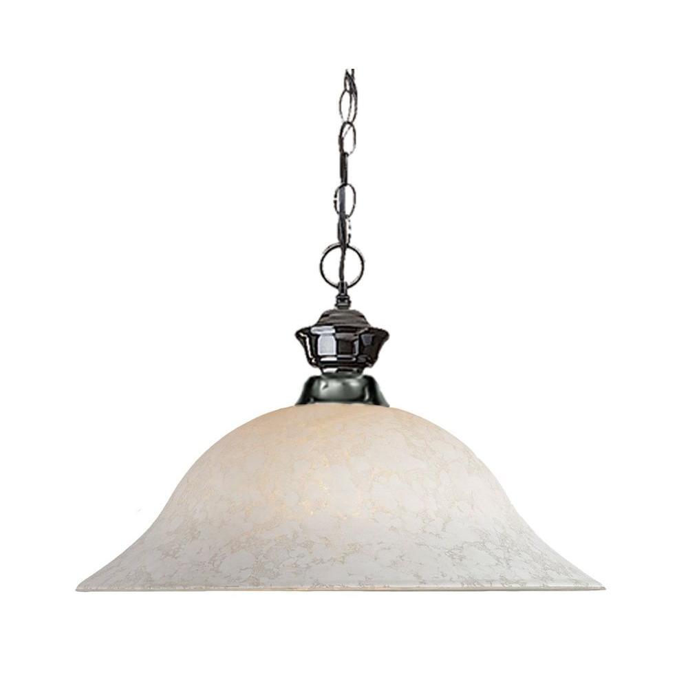 Lawrence 1-Light Gun Metal Incandescent Ceiling Pendant