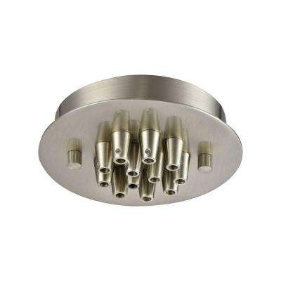 Illuminaire Accessories 12-Light Satin Nickel Small Round Canopy