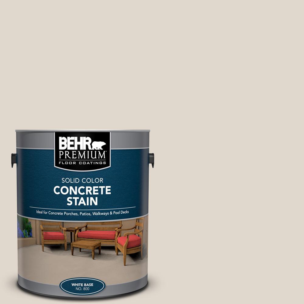 BEHR PREMIUM 1 gal. #PFC-72 White Cloud Solid Color Flat Interior/Exterior Concrete Stain