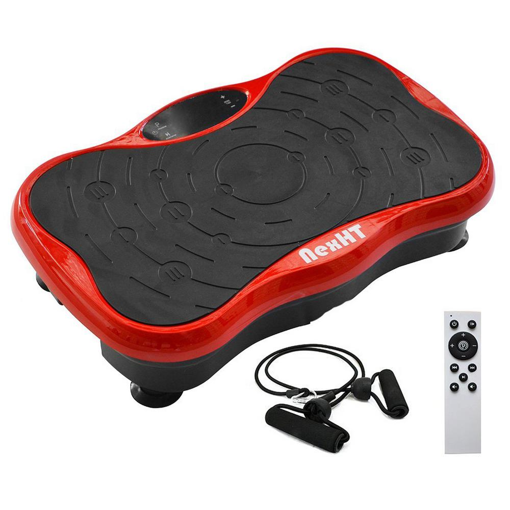 Mini Vibration Platform Whole Body Fitness Workout Trainer with 2 Bands