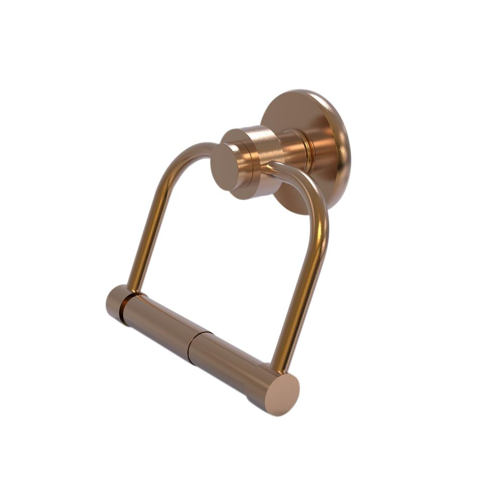 Mercury Collection Single Post Toilet Paper Holder in Brushed Bronze