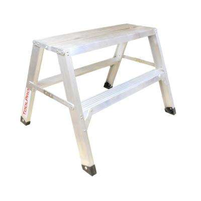 2 ft. Aluminum Flat-Top Sawhorse Ladder