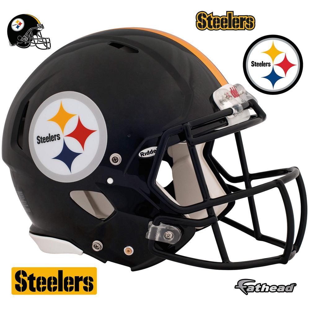 45 in. H x 56 in. W Pittsburgh Steelers Helmet Wall Mural