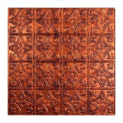 Traditional 1 - 2 ft. x 2 ft. Lay-in Ceiling Tile in Moonstone Copper
