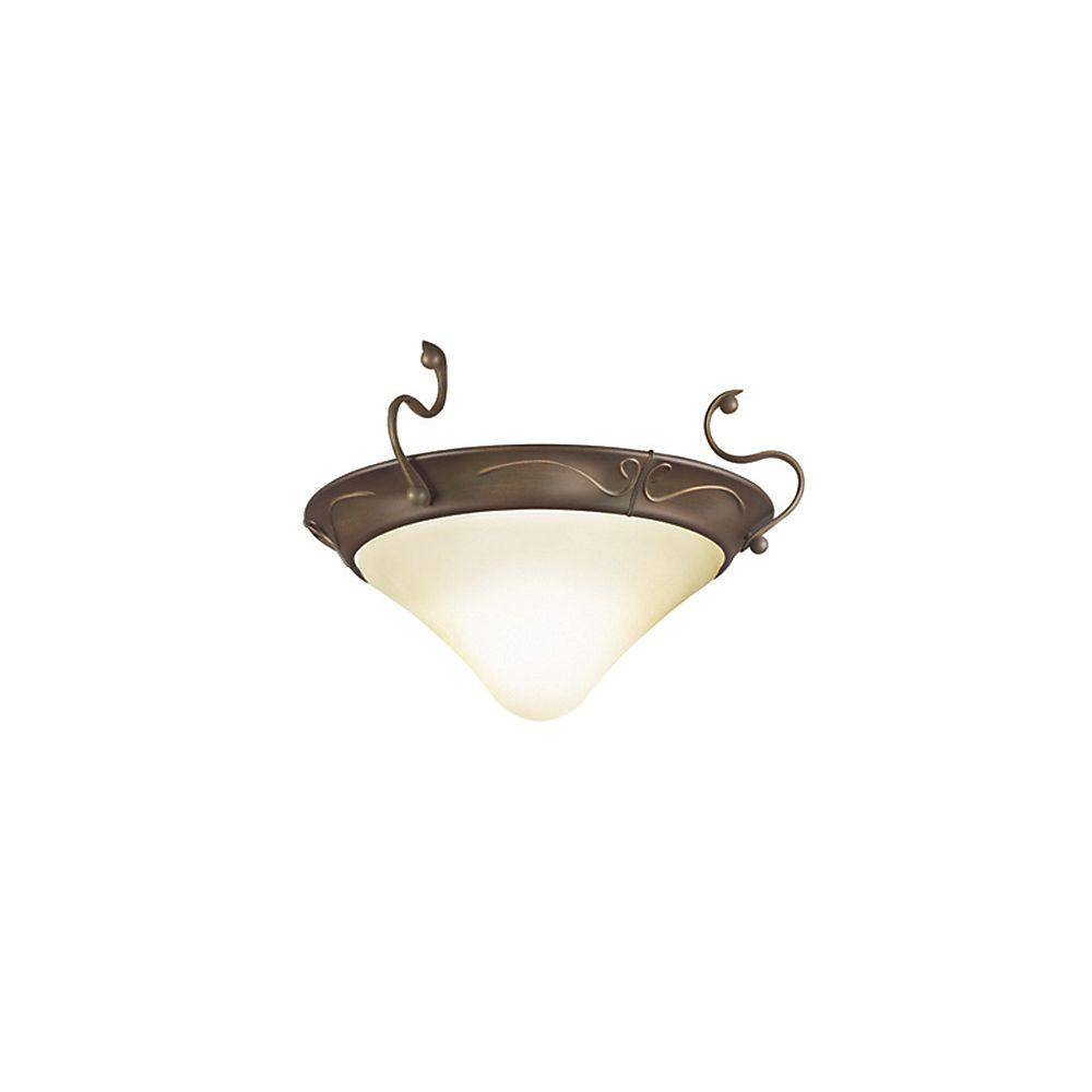 Casablanca Marrakesh 1 Halogen Bulb Brushed Cocoa Ceiling Fan Light Kit with White Glass-DISCONTINUED